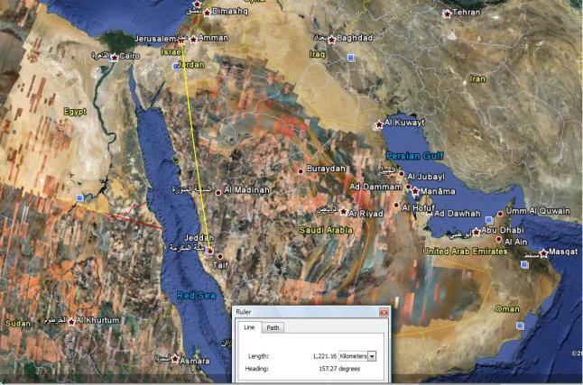 peta mekah masjidil aqsa